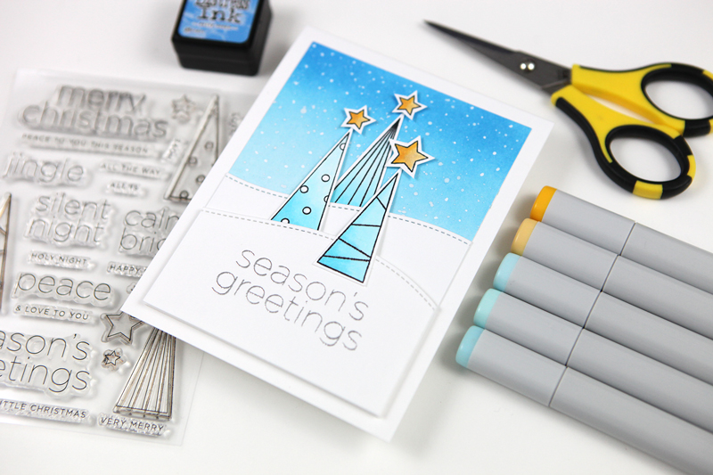 Simplify holiday cards with limited color palettes