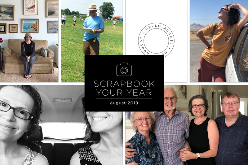 Scrapbook Your Year, Pages for August 2019 (plus save 30% on the class that inspires this project!)