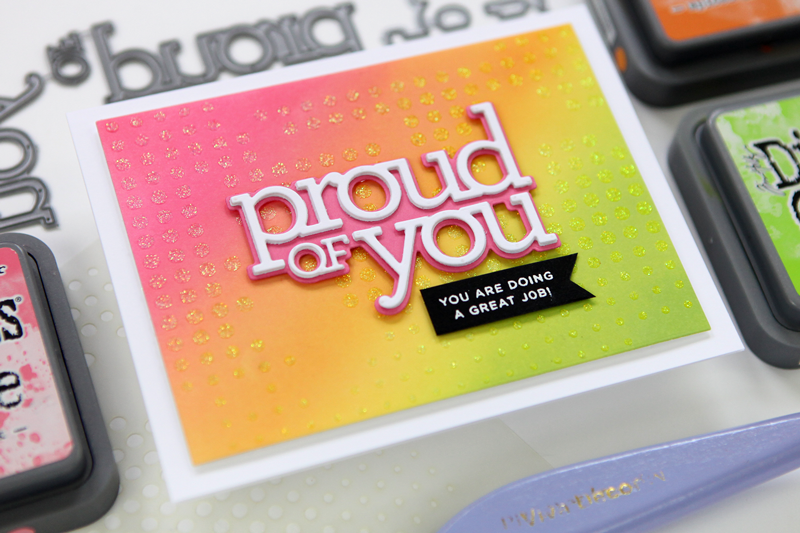 Proud of You Word/Shadow Die Card (a DieCember® Exclusive from Simon Says Stamp)