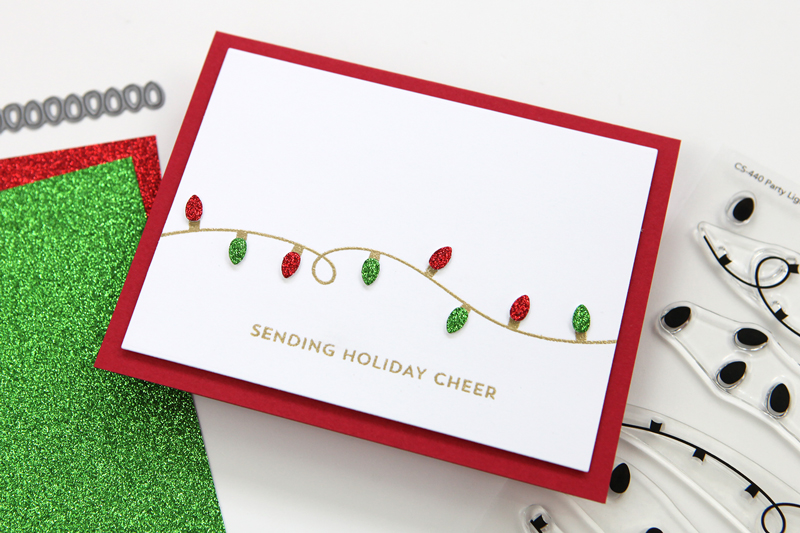 Clean and Simple Party Lights card project