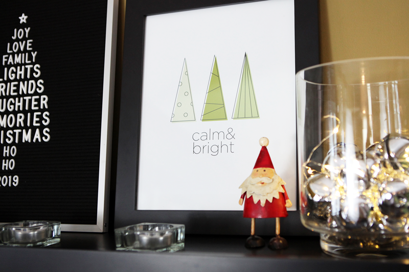 Free Clean Line Modern Trees Holiday Printable