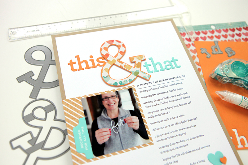 Scrapbook layout: Guest Post on the Scrapbook & Cards Today YouTube Channel