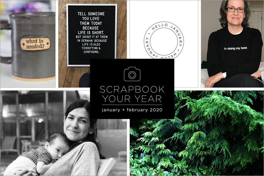 Scrapbook Your Year, my pages for January + February 2020