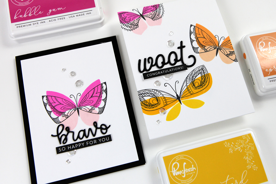 Simple 3-Step Stamping with Butterflies