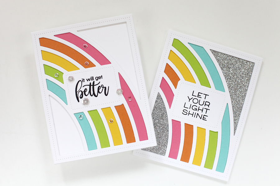 Easy encouragement rainbow cards that anyone can make