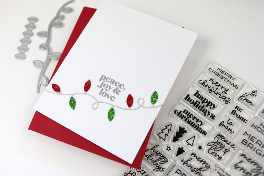 A Clean and Simple Holiday Card Project + Easy Gift Tags (Christmas in July!)