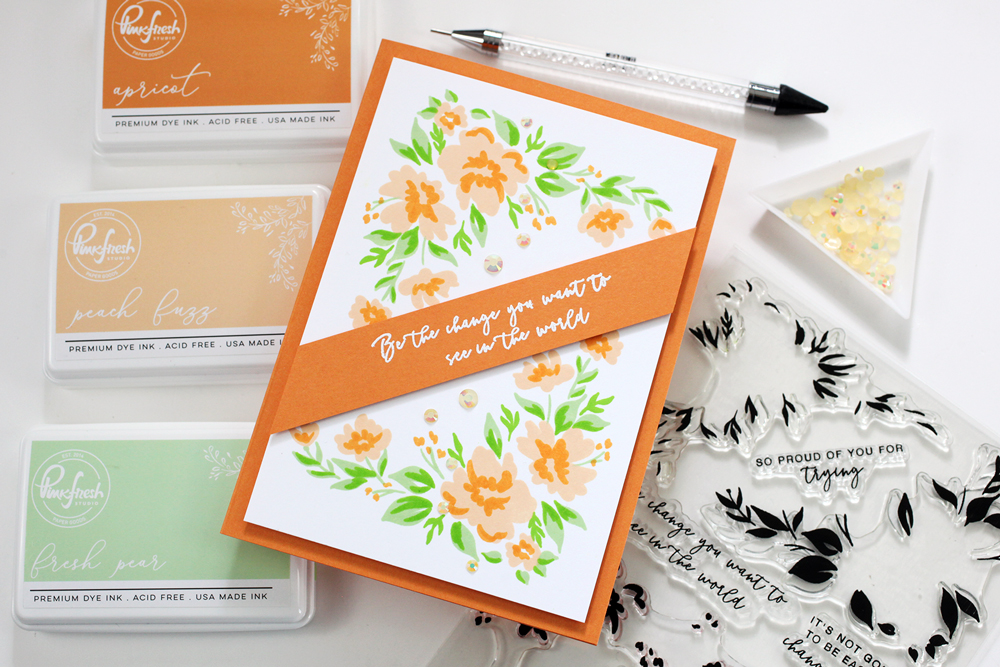 Today's STAMPtember® exclusive is from Pinkfresh Studio! Layering stamp set!