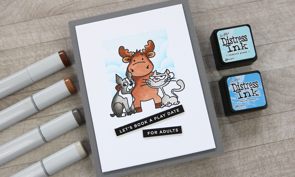 Today's STAMPtember® exclusive with Riley & Company. Friends are a good thing!