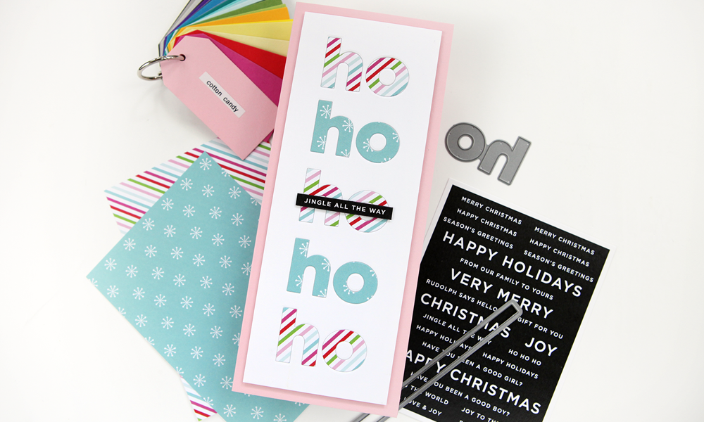 A simple way to use your patterned paper! (plus a new release from Simon Says Stamp!)