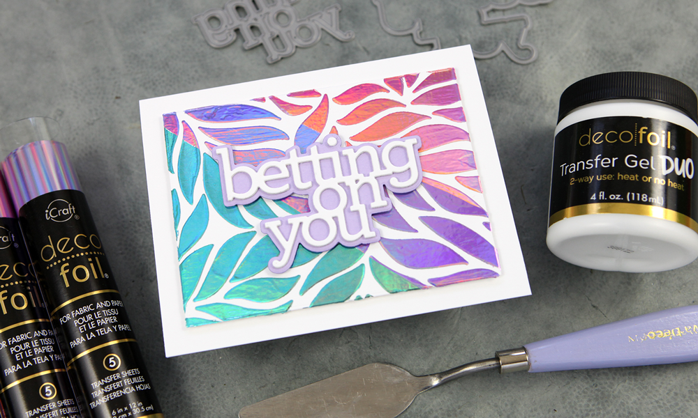 Fancy foiled backgrounds + die cuts. Welcome to Diecember®!
