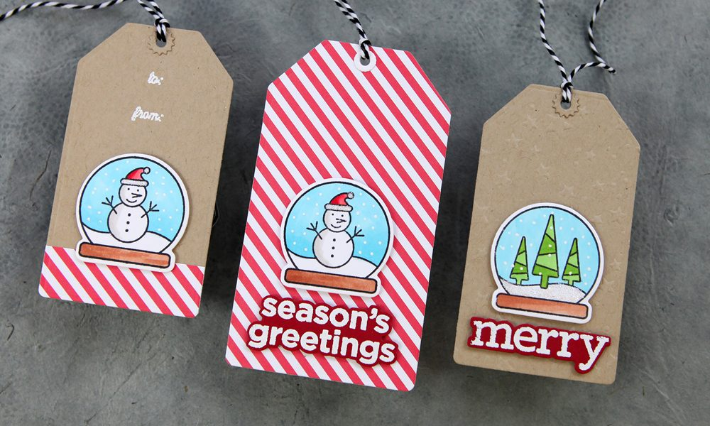 Simple holiday tags you can do! Plus a bonus card project.