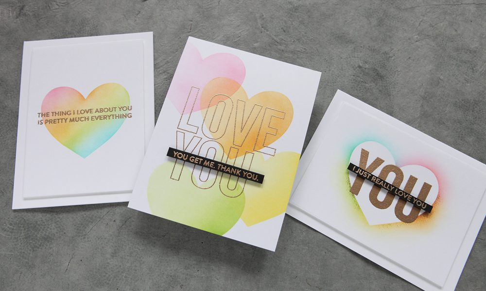 One stencil, three ways! A fun trio of cards featuring MFT Stamps products.