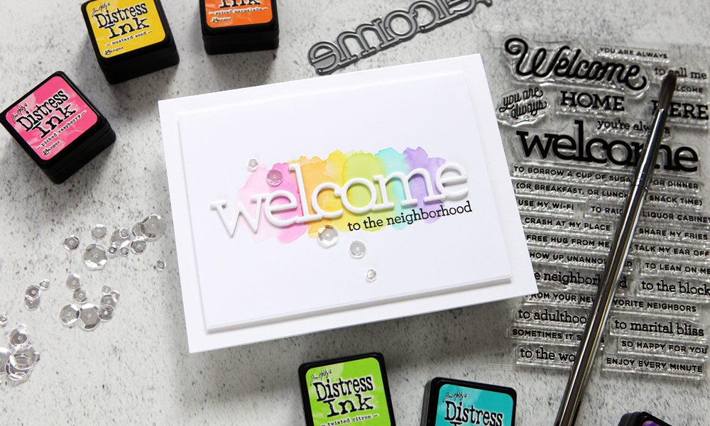 Simple painted rainbow swashes for your cards (+ a blog hop!)