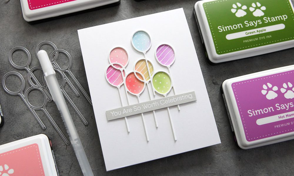 Two easy ways to add color behind a die cut!