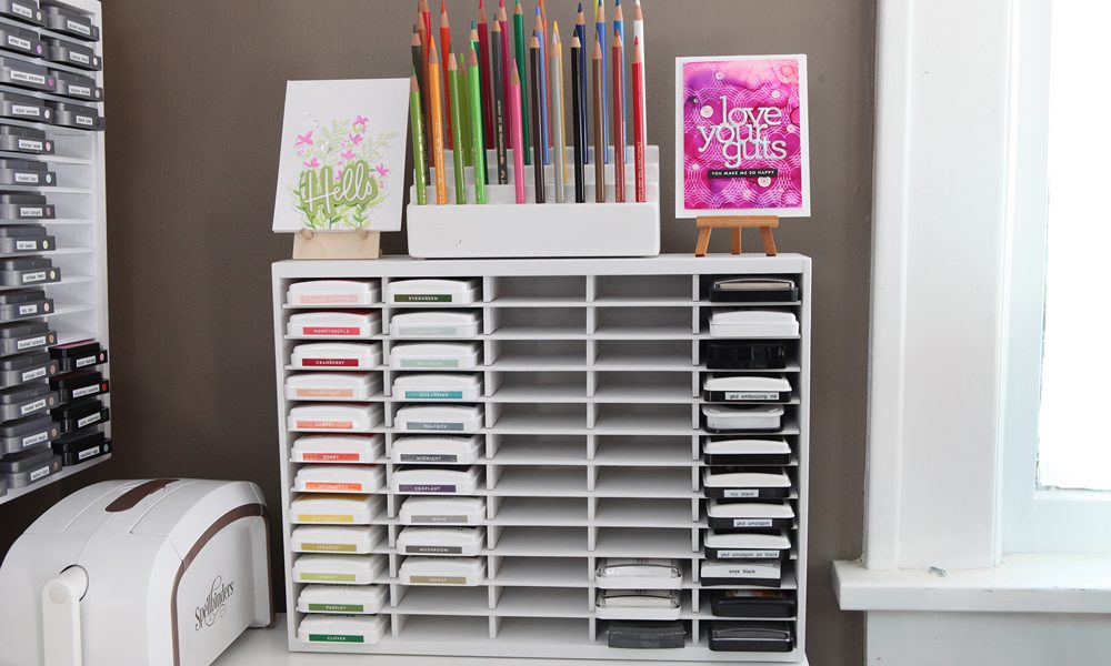 A quick refresh for my ink storage in the craft/dining room