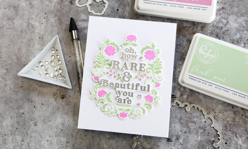 Easy layering stamp set that is nearly foolproof!