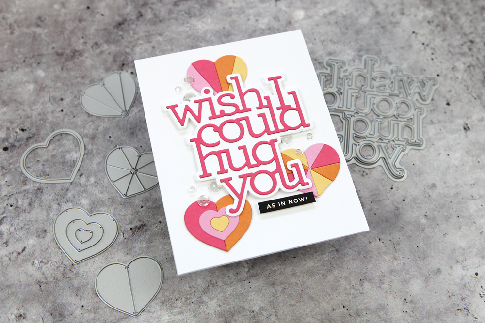 Let's make a card with die cutting only! (Part of a Simon Says Stamp blog hop!)