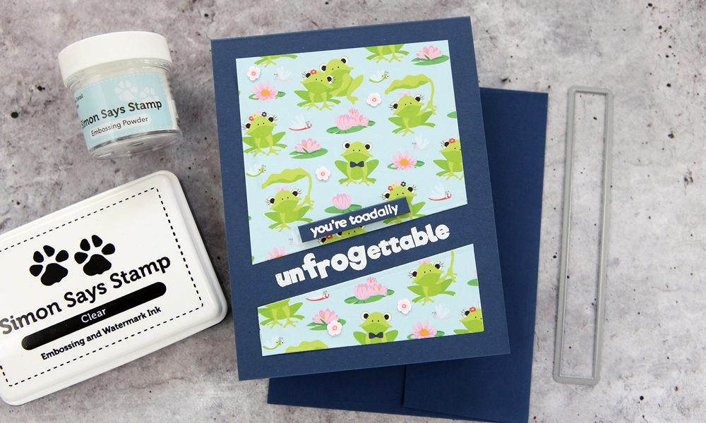 Let's get froggy with it! The new Toadally Unfrogettable kit from Simon Says Stamp!