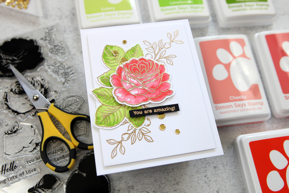 Gorgeous layered florals are easier than you think! STAMPtember® exclusive from Altenew