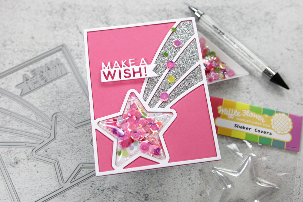 A shaker card save! If you mess up, don't throw in the towel! Cuteness might result!