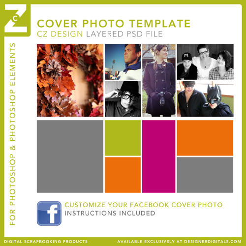 Create your own custom Facebook cover photo using my free template ...
